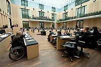 07 MAY 2010, BERLIN/GERMANY:<br /> Wolfgang Schaeuble (L), CDU, Bundesfinanzminister, haelt eine Rede, Bundesratsdebatte zum Gesetz zur Uebernahme von Gewaehrleistungen zum Erhalt der fuer die Finanzstabilitaet in der Waehrungsunion erforderlichen Zahlungsfaehigkeit der Hellenischen Republik, der sog. Griechenland-Hilfe, Plenum, Bundesrat<br /> IMAGE: 20100507-02-013<br /> KEYWORDS: Buergschaft, Bürgschaft, Finanzstabilitaetsgesetz, Wolfgang Schäuble