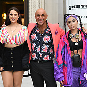 Amel Rachedi,Simon Gross &  Laughta attend Fashion Scout - SS19 - London Fashion Week - Day 2, London, UK. 15 September 2018