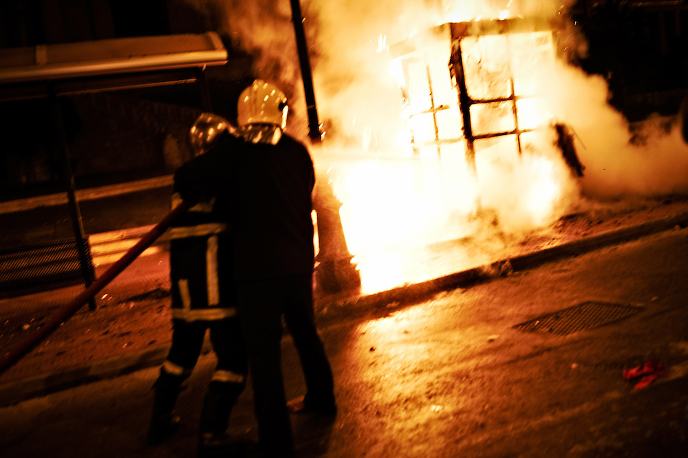 Riots in Propylaia - Demonstrations commemorating the second anniversary since the murder of 15 year old Alexandros Grigoropoulos by police in 2008, Athens, Greece, 6 December 2010