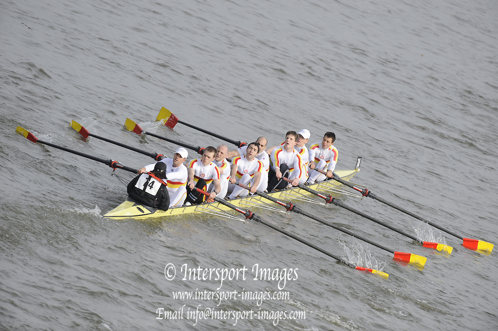 Putney/Barnes,  Great Britain,Tideway Scullers School 3,  2008 Head of the River Race. Raced from Mortlake to Putney, over the Championship Course.  15/03/2008  [Mandatory Credit. Peter Spurrier/Intersport Images] Rowing Course: River Thames, Championship course, Putney to Mortlake 4.25 Miles,