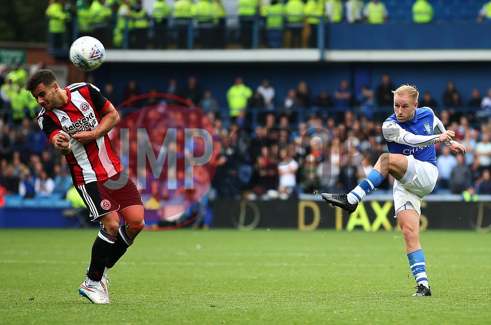 Barry Bannan of Sheffield Wednesday fires a shot at goal  - Mandatory by-line:  Matt McNulty/JMP - 24/09/2017 - FOOTBALL - Hillsborough - Sheffield, England - Sheffield Wednesday v Sheffield United - Sky Bet Championship