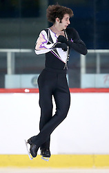 04.12.2015, Dom Sportova, Zagreb, CRO, ISU, Golden Spin of Zagreb, freies Programm, Herren, im Bild Nicholas Vrdoljak, Croatia. // during the 48th Golden Spin of Zagreb 2015 men Free Program of ISU at the Dom Sportova in Zagreb, Croatia on 2015/12/04. EXPA Pictures © 2015, PhotoCredit: EXPA/ Pixsell/ Igor Kralj<br /> <br /> *****ATTENTION - for AUT, SLO, SUI, SWE, ITA, FRA only*****