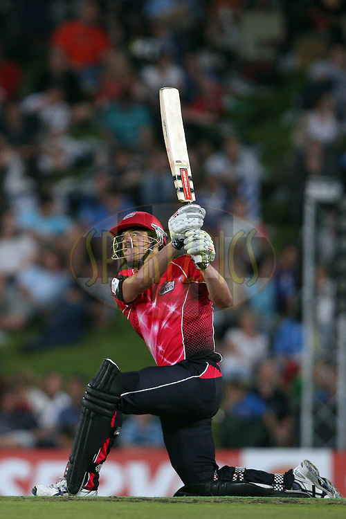 Moises Henriques during the 2nd semi-final in the Karbonn Smart CLT20 between the Sydney Sixers and the Titans held at Supersport Park, Centurion, South Africa on the 26th October 2012. Photo by Jacques Rossouw/SPORTZPICS/CLT20