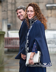 © London News Pictures. 05/03/2016. London, UK. News UK CEO REBEKAH and CHARLIE BROOKS attend a ceremony to mark the wedding of Rupert Murdoch and Jerry Hall held at St Brides Church on Fleet Street,  central London on February 05, 2016. . Photo credit: Ben Cawthra /LNP