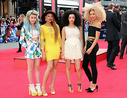 © Licensed to London News Pictures. 10/04/2014, UK. Asami Zdrenka; Amira McCarthy; Shereen Cutkelvin; Jess Plummer; Neon Jungle, The Amazing Spider-Man 2 - World film premiere, Odeon Leicester Square, London UK, 10 April 2014. Photo credit : Richard Goldschmidt/Piqtured/LNP