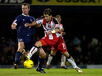 Photo: Alan Crowhurst.<br />Southend United v Southampton. Coca Cola Championship. 09/12/2006. Saints Rudi Skacel (R) challenges for the ball.