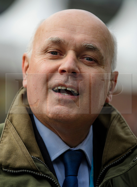 © Licensed to London News Pictures. 04/10/2017. Manchester, UK. IAIN DUNCAN SMITH at Conservative Party Conference. The four day event is expected to focus heavily on Brexit, with the British prime minister hoping to dampen rumours of a leadership challenge. Photo credit: Ben Cawthra/LNP
