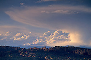 Major thunderstorm cloud as seen from Arches National Park, UTAH