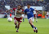 Fotball<br /> Frankrike 2003/04<br /> Strasbourg v Paris St. Germain<br /> 1. mai 2004<br /> Foto: Digitalsport<br /> NORWAY ONLY<br /> <br /> JUAN PABLO SORIN (PSG) / YACINE ABDESSADKI (STR)