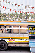 Morlam bus (highlighting the music of Northeast Thailand) in front of MAIIAM Contemporary Art Museum