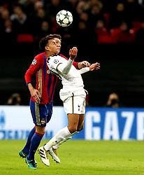 Dele Alli of Tottenham Hotspur controls the ball - Mandatory by-line: Robbie Stephenson/JMP - 07/12/2016 - FOOTBALL - Wembley Stadium - London, England - Tottenham Hotspur v CSKA Moscow - UEFA Champions League