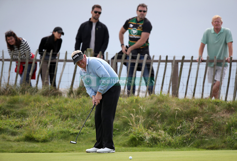 Scotland's Colin Montgomerie on the 3rd green during day three of the Senior Open at Royal Porthcawl Golf Club.