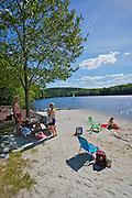 Pocono Mountains, Bear Creek community lake, summer swimming and sail boats