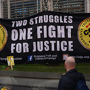 "Hundreds protest against the Home Office decision not to grant an inquiry into ""The Battle of Orgreave"" on 13th March in London.UK. by See"