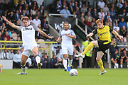Burton Albion midfielder Stephen Quinn (7) shoots at goal during the Pre-Season Friendly match between Burton Albion and Derby County at the Pirelli Stadium, Burton upon Trent, England on 20 July 2019.