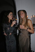 Anna Kotzeva and Vanda Craig, Dinner to unveil the Van Cleef & Arpels jewellery collection 'Couture' with fashion by Anouska Hempel Couture. The Banqueting House, Whitehall Palace, London on 8th March 2005.ONE TIME USE ONLY - DO NOT ARCHIVE  © Copyright Photograph by Dafydd Jones 66 Stockwell Park Rd. London SW9 0DA Tel 020 7733 0108 www.dafjones.com