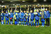 FGR flag bearers during the EFL Trophy group stage match between Forest Green Rovers and U21 Arsenal at the New Lawn, Forest Green, United Kingdom on 7 November 2018.