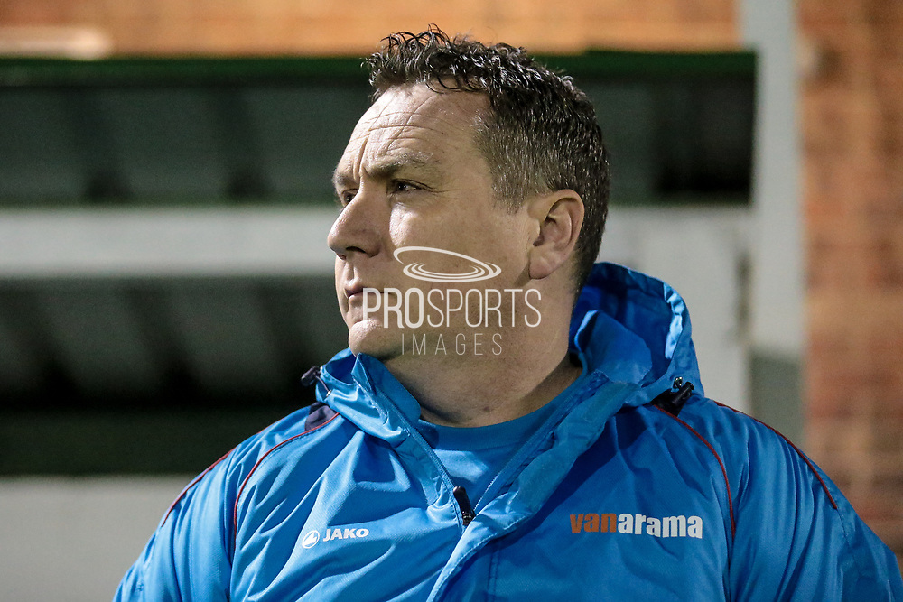 Mickey Mellon (Manager) (Tranmere Rovers) during the Vanarama National League match between North Ferriby United and Tranmere Rovers at Eon Visual Media Stadium, North Ferriby, United Kingdom on 21 March 2017. Photo by Mark P Doherty.