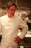 in the kitchen of the restaurant Per Se, in NY..Chef Thomas Keller..Photograph by Owen Franken ..
