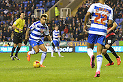 Reading's Danny Williams on the attack during the Sky Bet Championship match between Reading and Queens Park Rangers at the Madejski Stadium, Reading, England on 3 December 2015. Photo by Mark Davies.