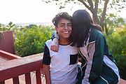 Youthful Courtship. San Miguel de Allende, Mexico.