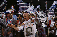 Mondale rally at the Democratic Convention in August 1984..Photograph by Dennis Brack b23