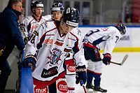 2020-01-22   Kallinge, Sweden: Halmstad Hammers (88) Oscar Jacobsson during the warming up before the game between Krif hockey and Halmstad Hammers at Soft Center Arena (Photo by: Jonathan Persson   Swe Press Photo)<br /> <br /> Keywords: kallinge, Ishockey, Icehockey, hockeyettan, allettan södra, soft center arena, krif hockey, halmstad hammers (Match code: krhh200122)