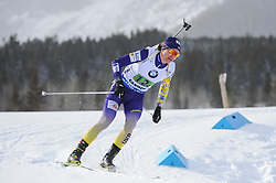 February 8, 2019 - Calgary, Alberta, Canada - Semenov Sergiy (UKR) is competing during Men's Relay of 7 BMW IBU World Cup Biathlon 2018-2019. Canmore, Canada, 08.02.2019 (Credit Image: © Russian Look via ZUMA Wire)