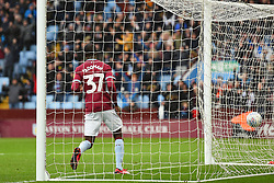 March 16, 2019 - Birmingham, England, United Kingdom - Albert Adomah (37) of Aston Villa in the goal after scoring to make it 3-0 during the Sky Bet Championship match between Aston Villa and Middlesbrough at Villa Park, Birmingham on Saturday 16th March 2019. (Credit Image: © Mi News/NurPhoto via ZUMA Press)