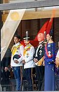 De Japanse keizer Naruhito heeft officieel de troon aanvaard en de belofte afgelegd dat hij zijn plicht als symbool van de staat zal vervullen. De 59-jarige Naruhito deed dat in een eeuwenoude ceremonie in de belangrijkste zaal van het keizerlijke paleis in Tokio in aanwezigheid van staatshoofden en gasten uit meer dan 180 landen.<br /> <br /> The Japanese emperor Naruhito has officially accepted the throne and made the promise that he will fulfill his duty as a symbol of the state. The 59-year-old Naruhito did that in an ancient ceremony in the main hall of the Imperial Palace in Tokyo in the presence of heads of state and guests from more than 180 countries.<br /> <br /> Op de foto / On the photo: Princess Victoria and King Carl Gustaf and Brunei's Sultan Hassanal Bolkiah