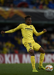 December 13, 2018 - Villarreal, Castellon, Spain - Samu Chukwueze of Villarreal during the Group G match of the UEFA Europa League between Villarreal CF and Spartak Moskva at La Ceramica Stadium Villarreal, Spain on December 13, 2018. (Credit Image: © Jose Breton/NurPhoto via ZUMA Press)