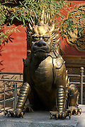 Gugong (Forbidden City, Imperial Palace). Bronze lion.