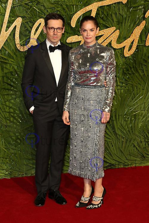 Erdem Moralioglu, Ruth Wilson, The Fashion Awards 2017, The Royal Albert Hall, London UK, 04 December 2017, Photo by Richard Goldschmidt