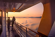 passengers on tour boat in Inside Passage