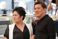 Actress Jaclyn Jose<br /> and director Brillante Mendoza at the Ma'rosa film photo call at the 69th Cannes Film Festival Wednesday 18th May 2016, Cannes, France. Photography: Doreen Kennedy
