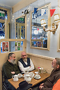 London, England, Uk, November 24 2018 - In the footsteps of Claude Monet in London: Maison Bertaux, the oldest pâtisserie in London, founded in 1871 by a French communard when Soho was the heart of French Community in the late 19th century. Monet used to meet other painters at the patisserie.