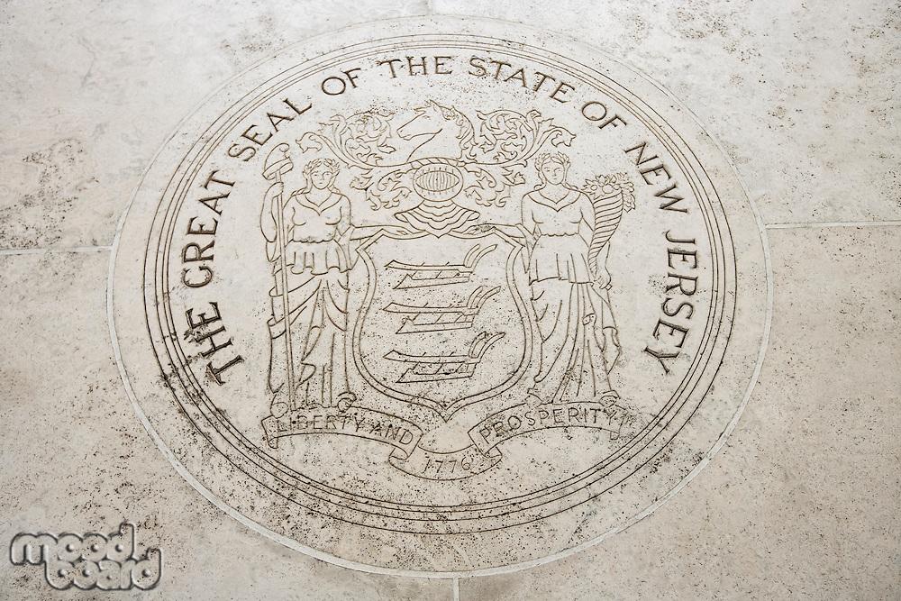 Seal of New Jersey in Fort Bonifacio; Manila; Philippines