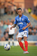 Kyle Bennett during the Capital One Cup match between Portsmouth and Derby County at Fratton Park, Portsmouth, England on 12 August 2015. Photo by Adam Rivers.