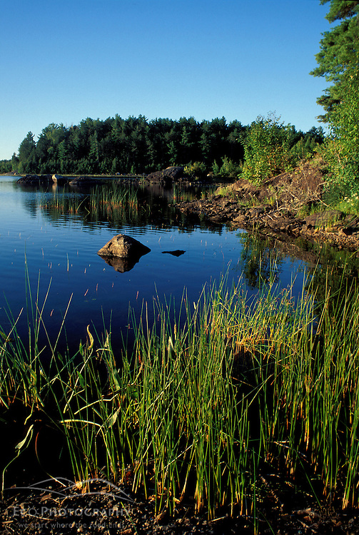 Third Machias Lake, ME. Northern Forest. Early morning on the lake.