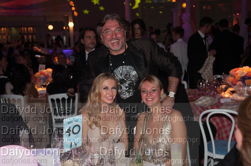 JULIA GONCARUK; ALISA ROEVEN; ROBERT TCHENGUIZ, Grey Goose Winter Ball to benefit the Elton John Aids Foundation. Battersea Power Station. London. 10 November 2012.