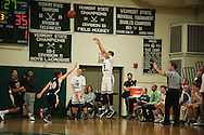 during the boys basketball game between the Essex Hornets and the Rice Green Knights at Rice Memorial high school on Tuesday night December 22, 2015 in South Burlington.(BRIAN JENKINS/for the FREE PRESS)