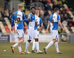 Ellis Harrison of Bristol Rovers celebrates his goal with Jeffrey Monakana of Bristol Rovers - Mandatory byline: Alex James/JMP - 19/03/2016 - FOOTBALL - Rodney Parade - Newport, England - Newport County v Bristol Rovers - Sky Bet League Two