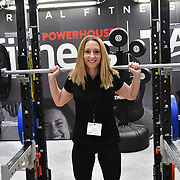 Powerhouse Fitness London weight lifting equipment at Elevate 2019 on 8 May 2019, at Excel London, UK.