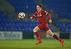 BIRKENHEAD, ENGLAND - Tuesday, December 19, 2017: Liverpool's Harry Wilson during the Under-23 FA Premier League International Cup Group A match between Liverpool and PSV Eindhoven at Prenton Park. (Pic by David Rawcliffe/Propaganda)
