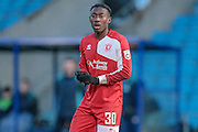 Goal scorer Kadell Daniel (Welling United) during the Vanarama National League match between FC Halifax Town and Welling United at the Shay, Halifax, United Kingdom on 30 January 2016. Photo by Mark P Doherty.