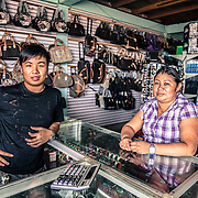 John is from Guangzhou, China. He came to Lethem in Guyana to open a new shop. John doesn't speak any english or portugues. His employee, form Lethem, is teaching him english and portugues to be able to talk to the many Brazilian customers coming to his shop everyday