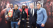 Floyd Mayweather Jr & Frank Warren press conference at The Savoy Hotel, London, Great Britain <br /> 7th March 2017 <br /> <br /> Leonard Ellerbe <br /> (CEO of Mayweather Promotions)<br /> <br /> Gervonta Davis <br /> (an American professional boxer who has held the IBF junior lightweight title since January 2017)<br /> <br /> <br /> Floyd Joy May weather Jr. is an American former professional boxer who competed from 1996 to 2015 and currently works as a boxing promoter. <br /> <br /> Frank Warren Boxing Promoter <br /> 