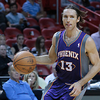 17 November 2010: Phoenix Suns' point guard #13 Steve Nash dribbles during the Miami Heat 123-96 victory over the Phoenix Suns at the AmericanAirlines Arena, Miami, Florida, USA.