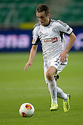 Legia's Miroslav Radovic controls the ball during the UEFA Europa League Group J football match between Legia Warsaw and Apollon Limassol FC at Pepsi Arena Stadium in Warsaw on October 03, 2013.<br /> <br /> Poland, Warsaw, October 03, 2013<br /> <br /> Picture also available in RAW (NEF) or TIFF format on special request.<br /> <br /> For editorial use only. Any commercial or promotional use requires permission.<br /> <br /> Mandatory credit:<br /> Photo by &copy; Adam Nurkiewicz / Mediasport