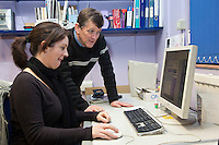 Sarah Burgess, Graphic Designer & Steve Halley, Design Coordinator. Remploy Print. Wythenshawe, Manchester.